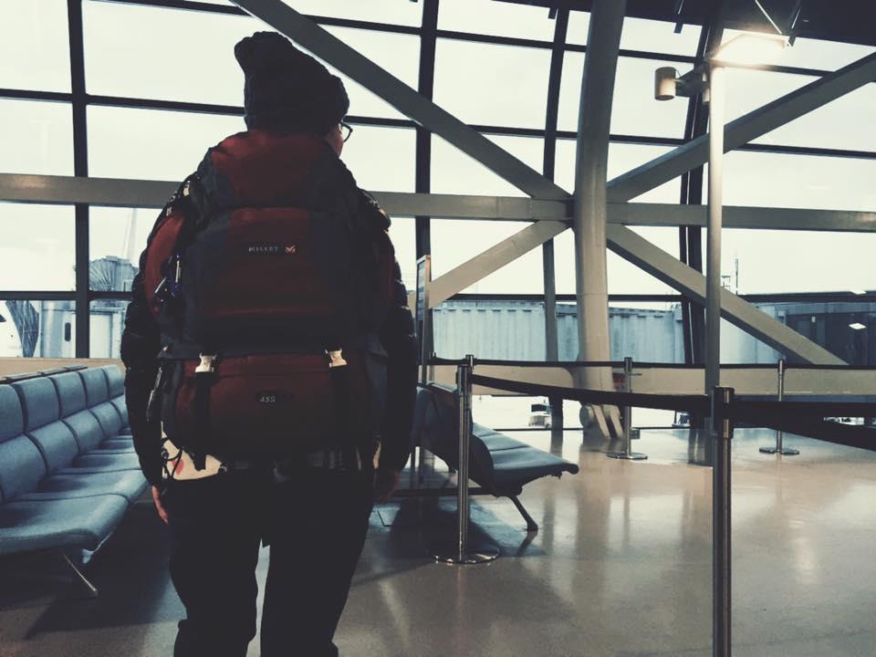 関西国際空港にて。お世話になってるバックパック