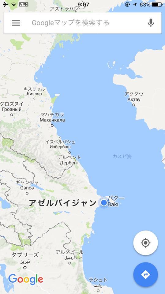 カスピ海に面したバクー