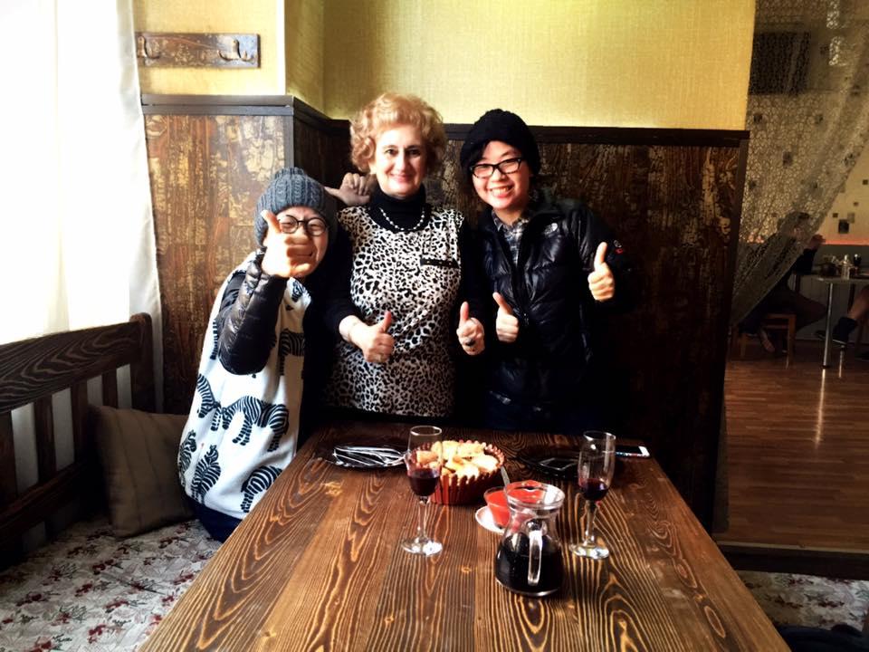 トビリシ Cafe Palermo のママと