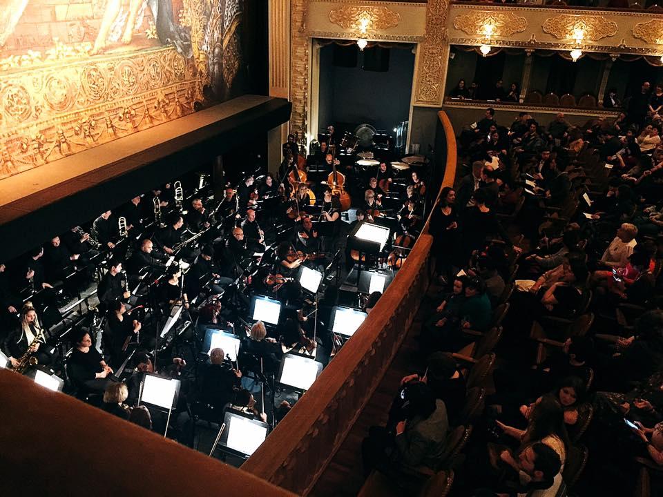ジョージア トビリシにあるオペラハウス。上階だったからオーケストラも見えた